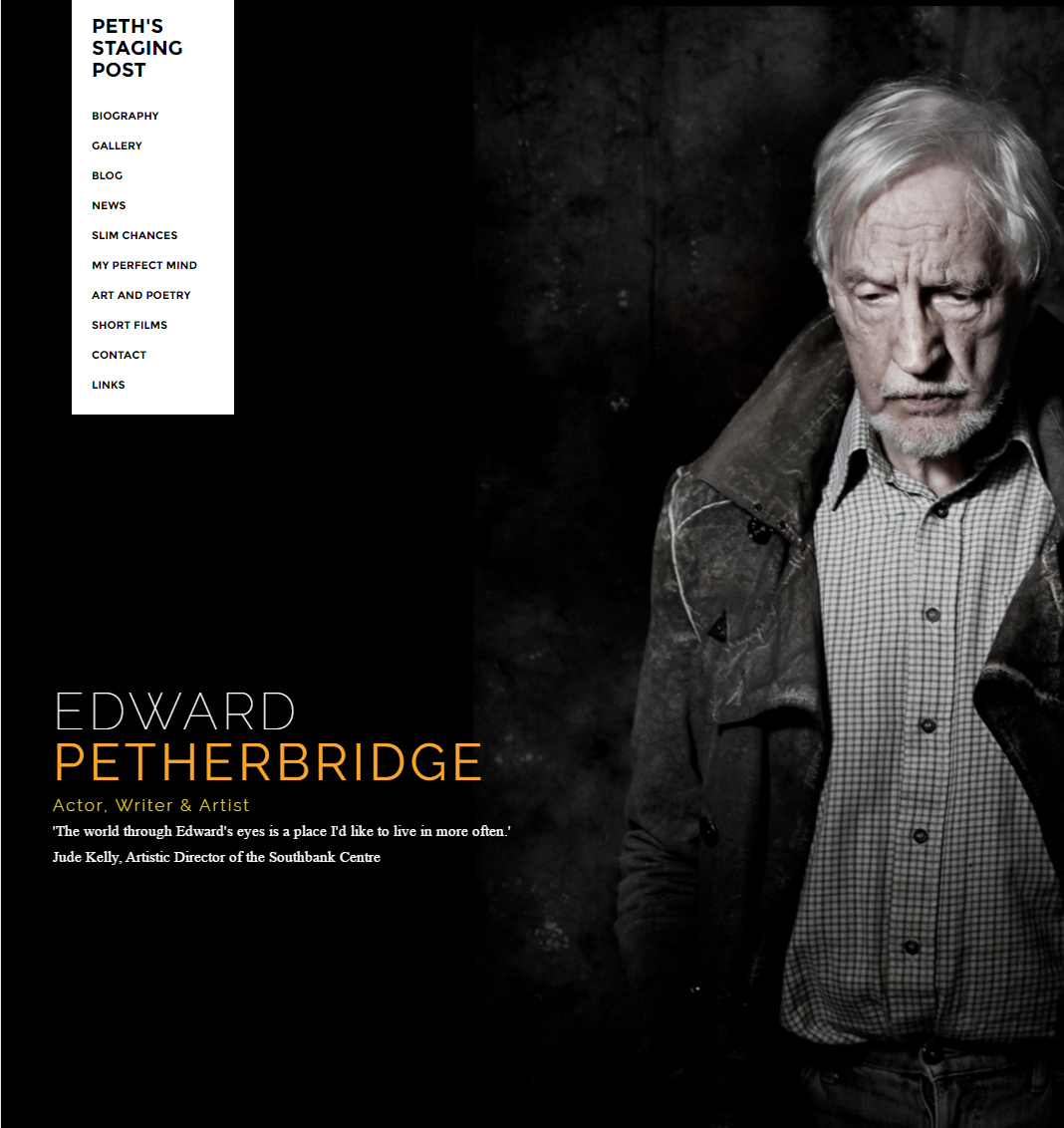 Peth's Staging Post: Edward Petherbridge